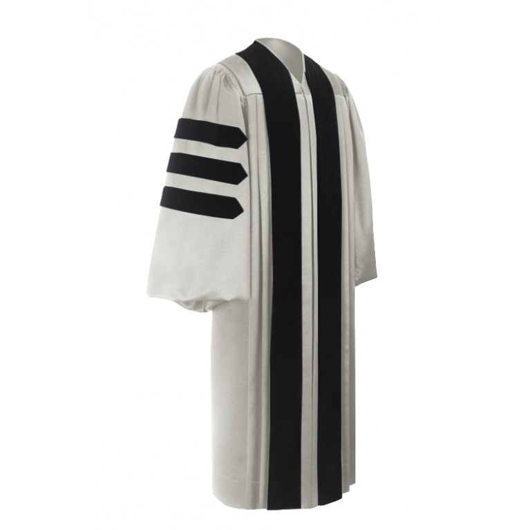 Deluxe White Doctoral Gown