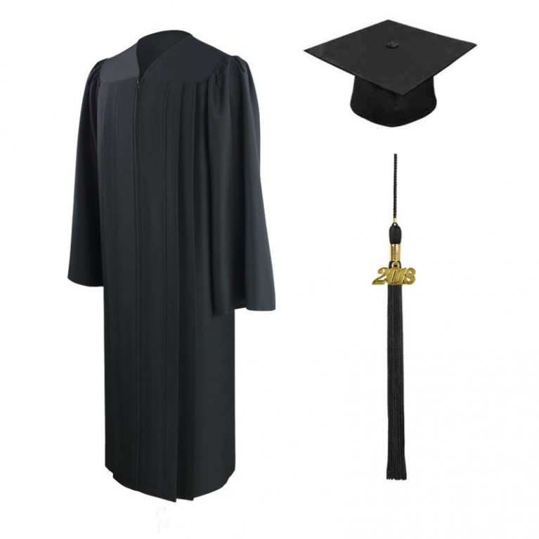 Eco-Friendly Black Cap, Gown & Tassel