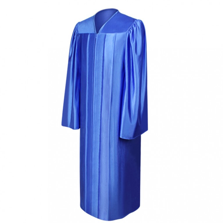 Shiny Royal Blue Gown
