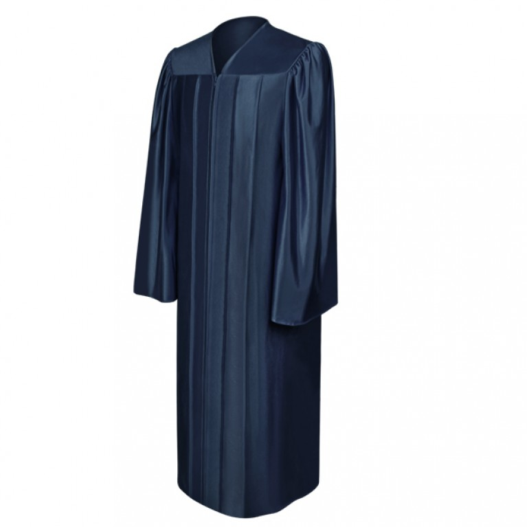Shiny Navy Blue Gown