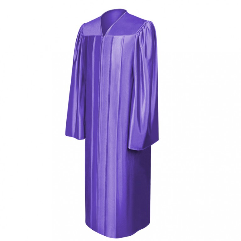 Shiny Purple Gown