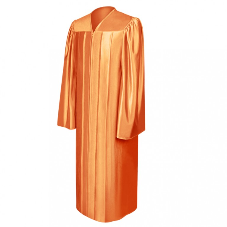 Shiny Orange Gown