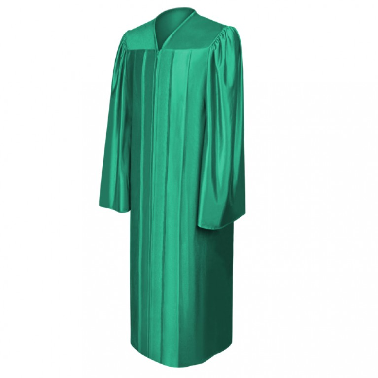 Shiny Emerald Green Gown
