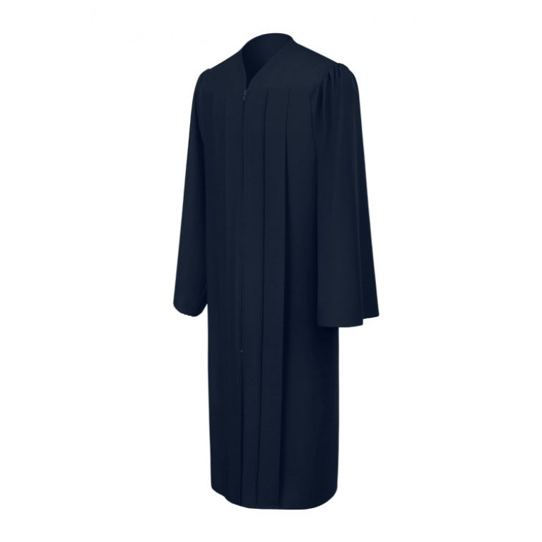 Matte Navy Blue Gown