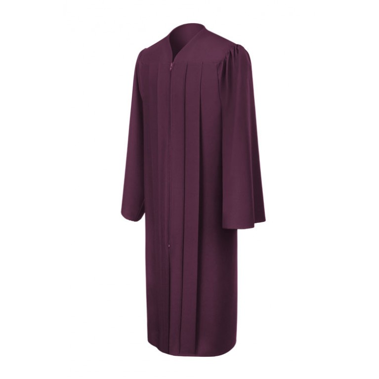 Matte Maroon Gown