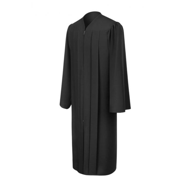 Matte Black Gown