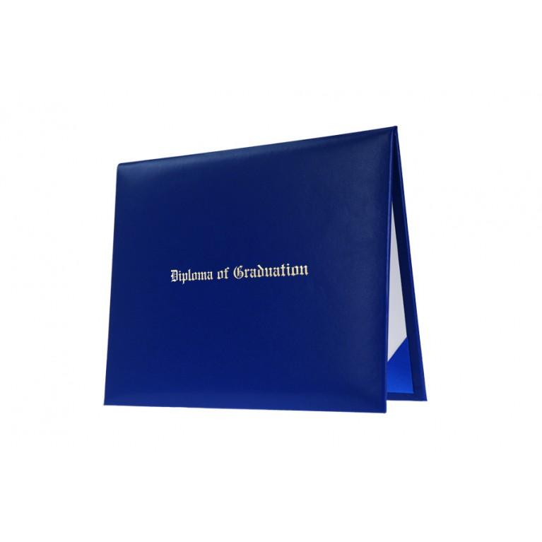 Royal Blue Imprinted Diploma Cover