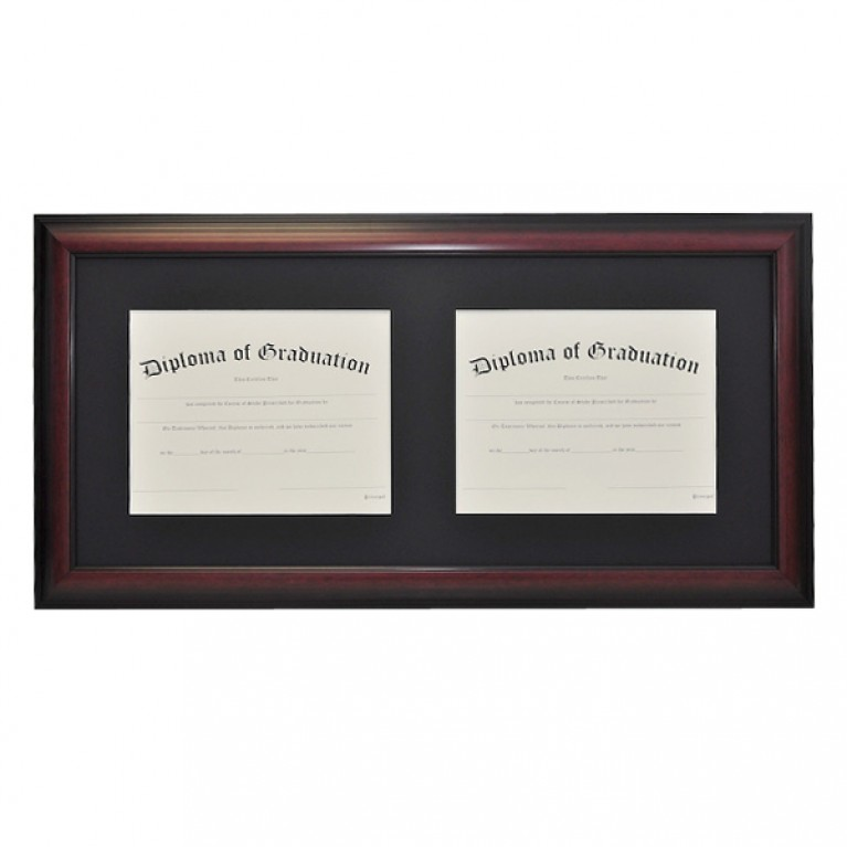 Horizontal Double Document Diploma Frame