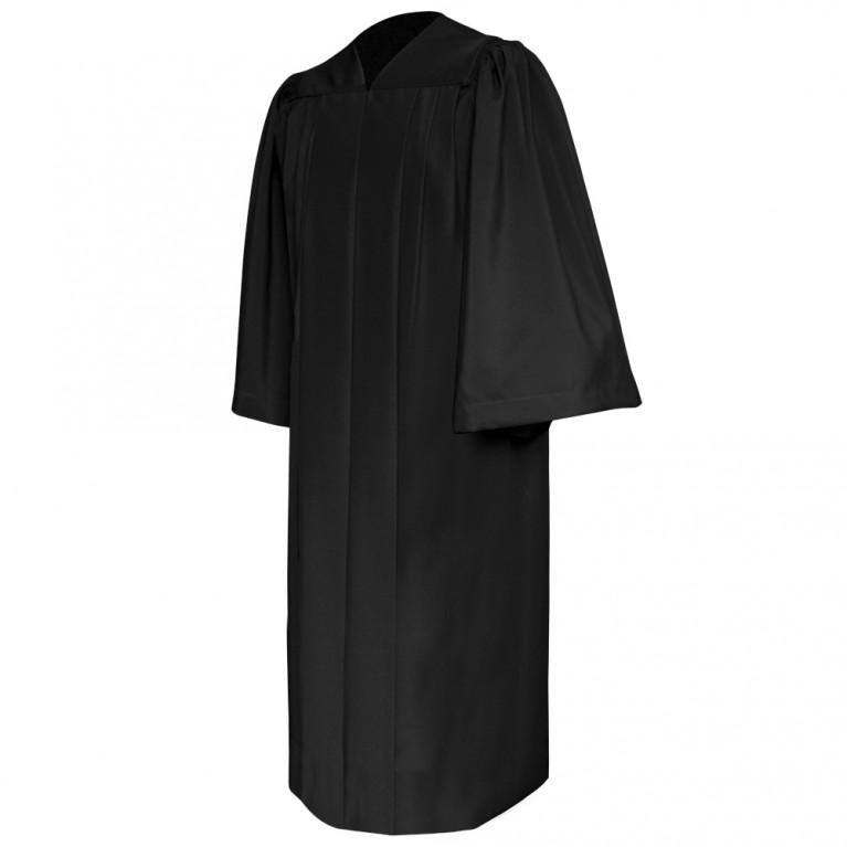 Deluxe Black Choir Robe