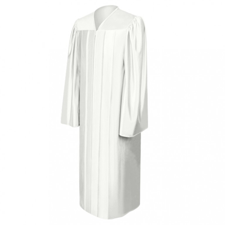 Shiny White Choir Robe