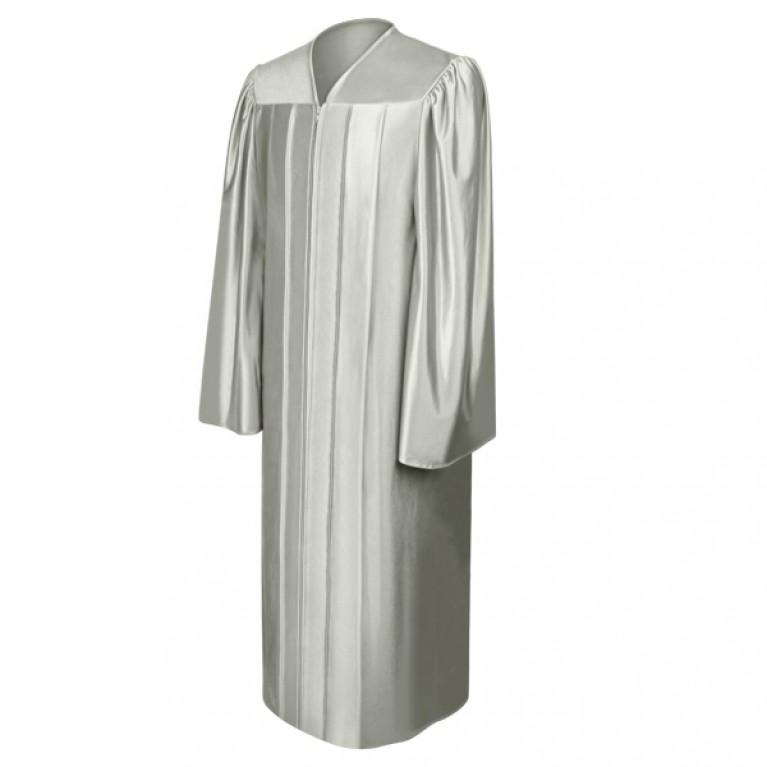 Shiny Silver Choir Robe