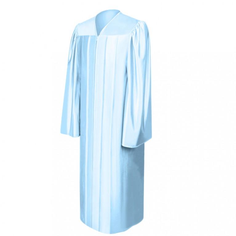 Shiny Light Blue Choir Robe