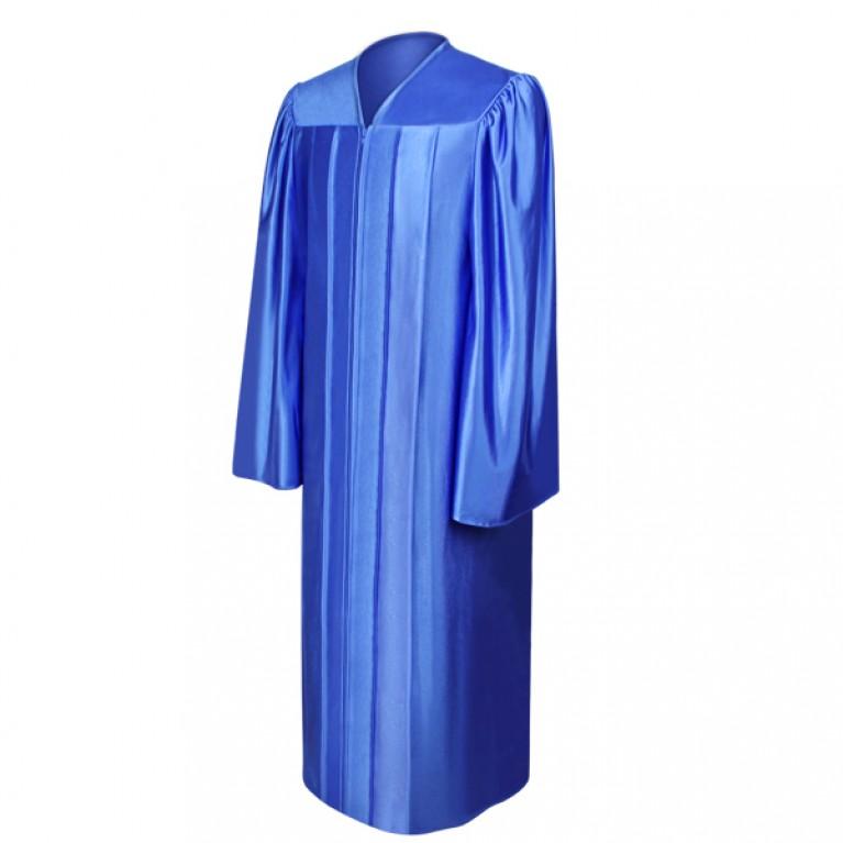 Shiny Royal Blue Choir Robe
