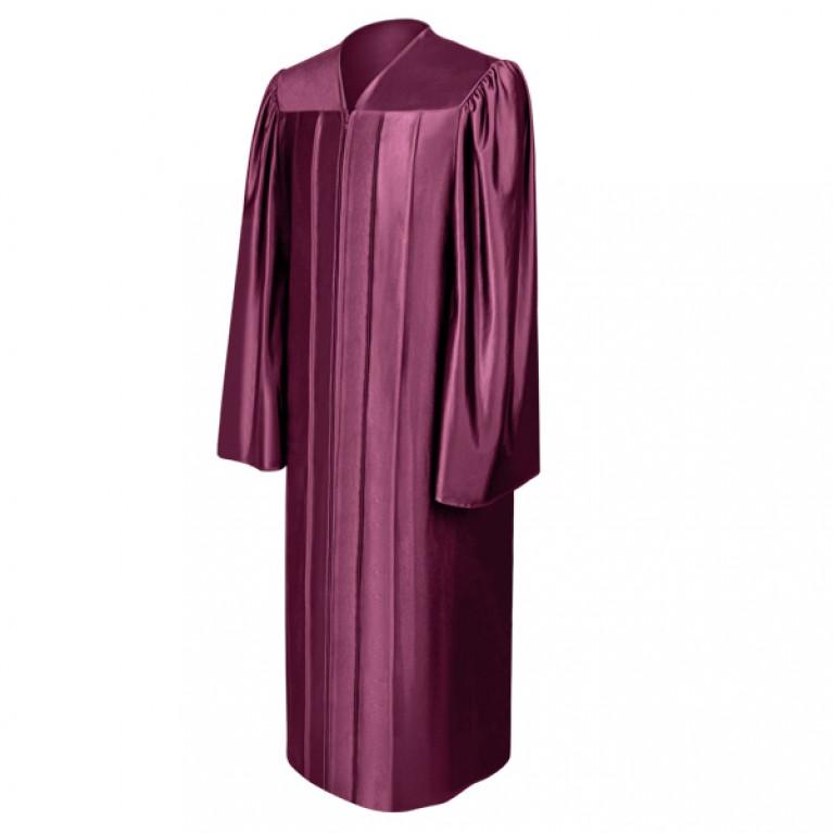 Shiny Maroon Choir Robe