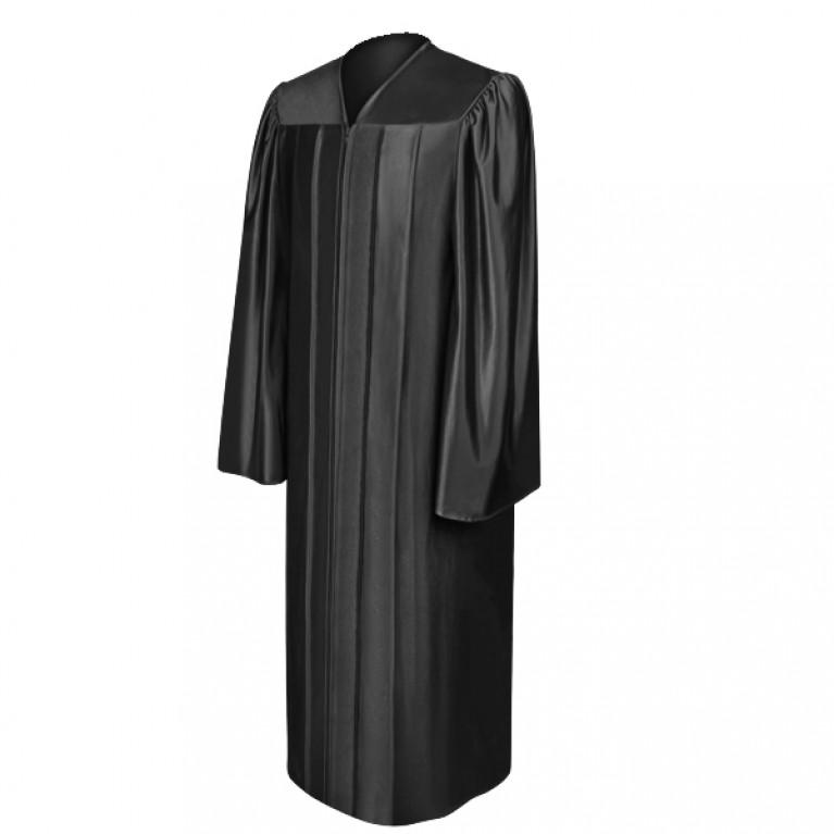 Shiny Black Choir Robe