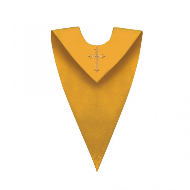 Gold V-Neck Choir Stole