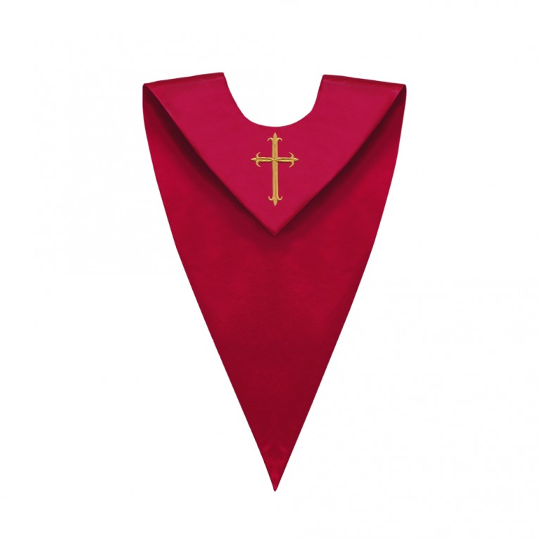 Red V-Neck Choir Stole