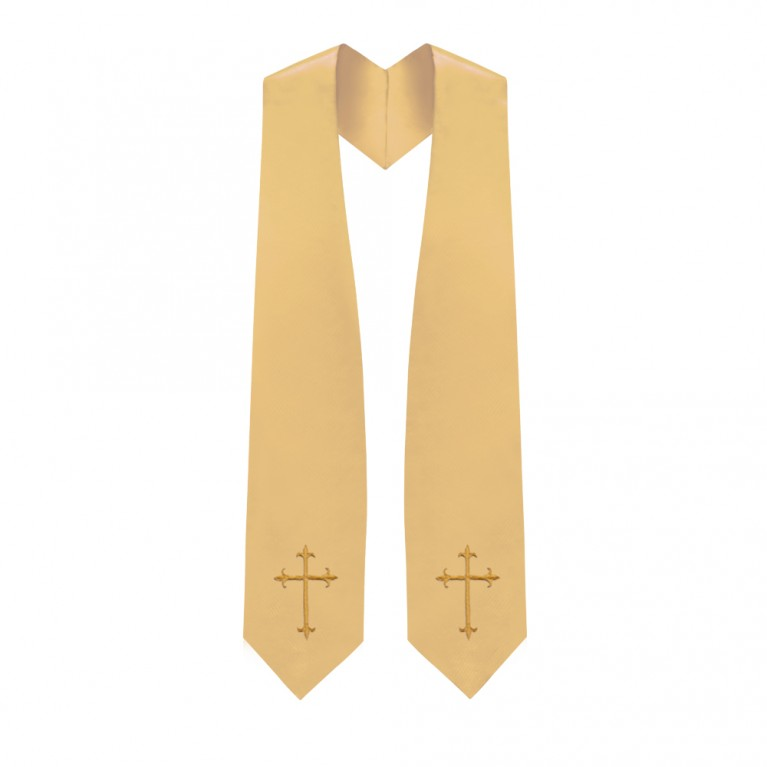 Antique Gold Traditional Choir Stole