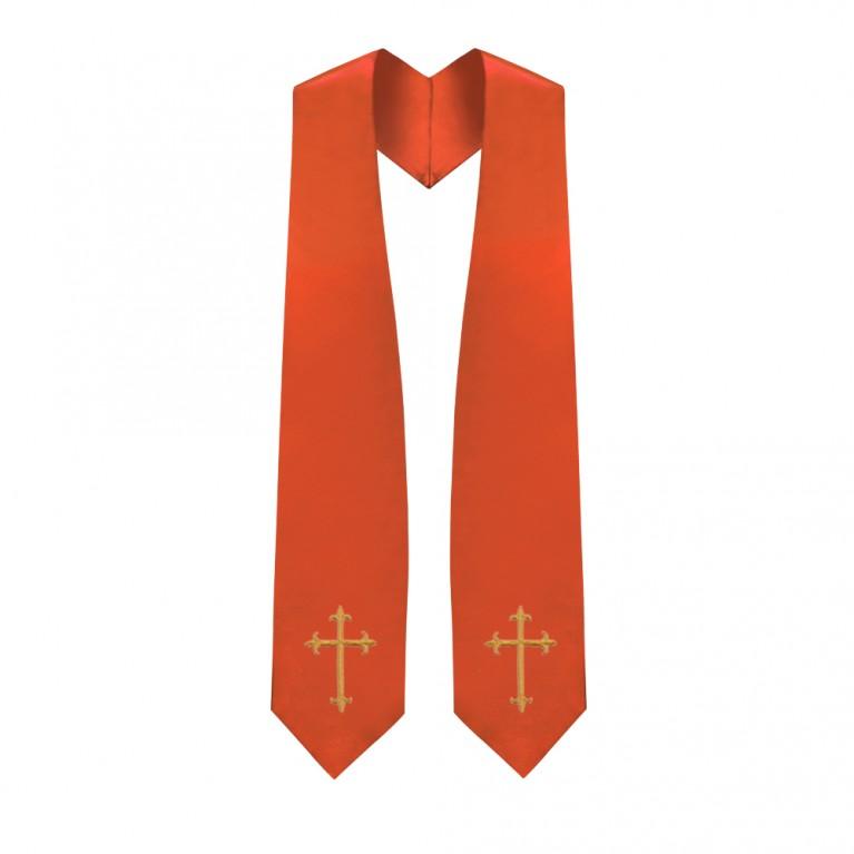 Orange Traditional Choir Stole
