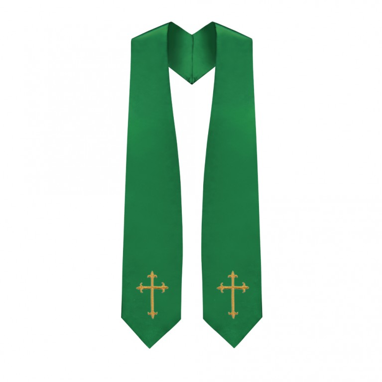 Green Traditional Choir Stole