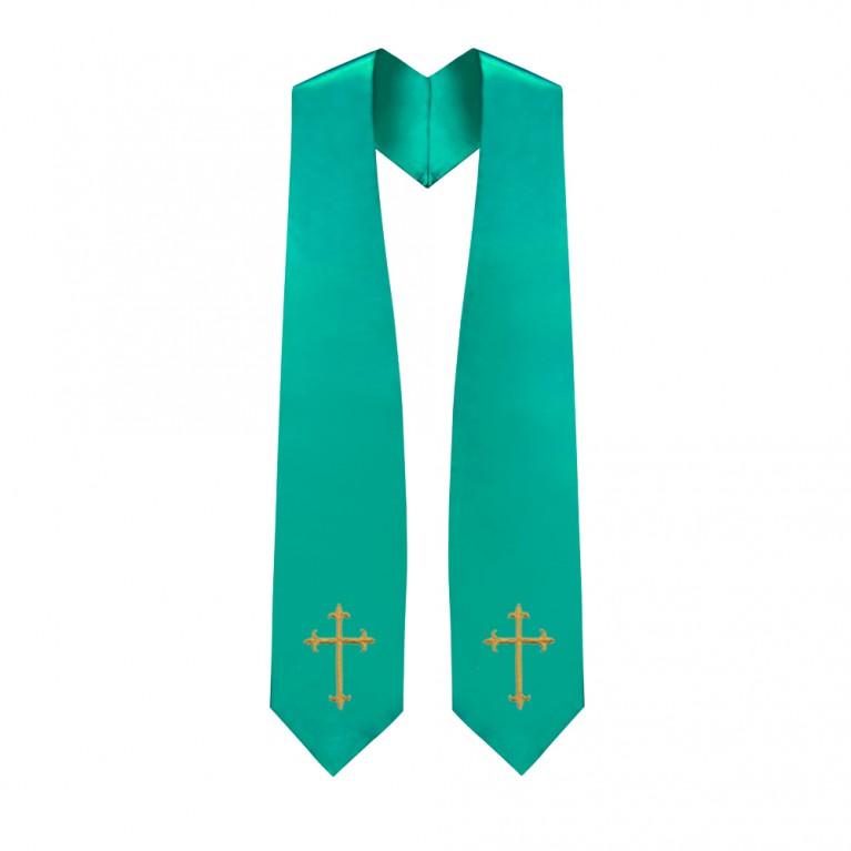 Emerald Green Traditional Choir Stole