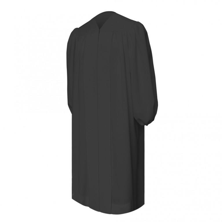 Premium Black Baptismal Robe