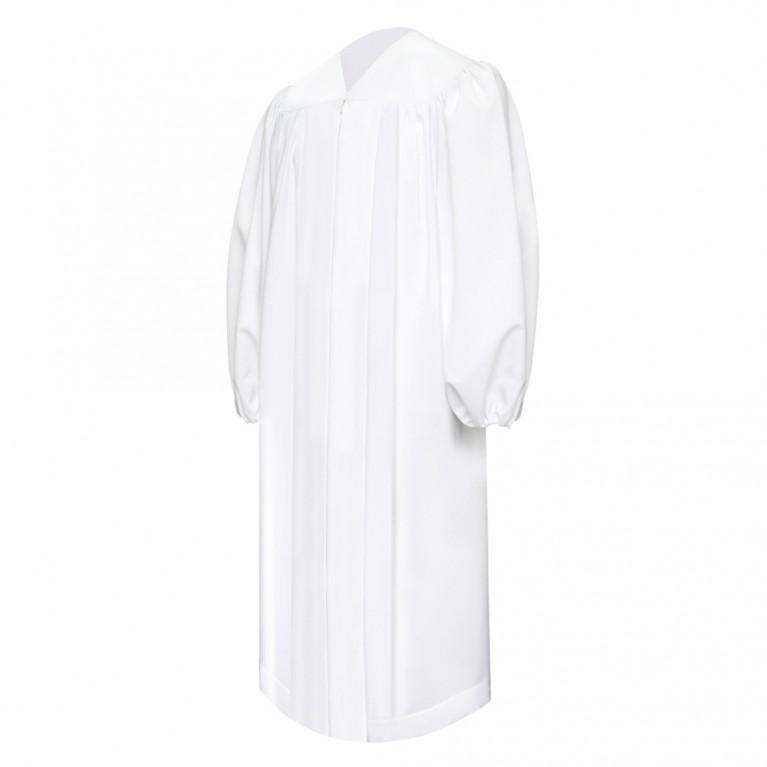 Premium White Baptismal Robe