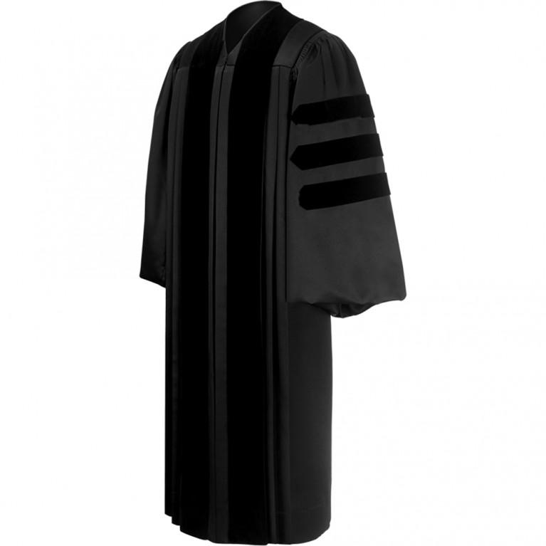 Deluxe Black Clergy Robe