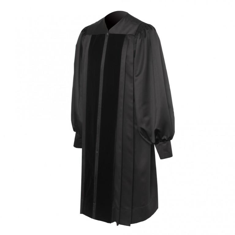 Black Clergy Robe