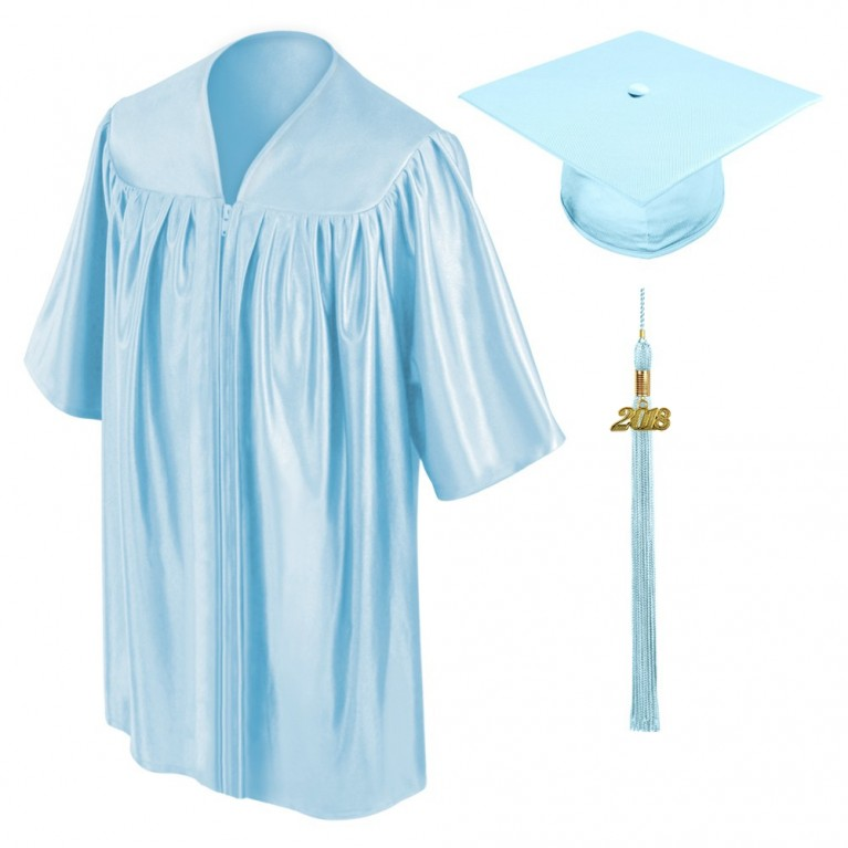 Light Blue Child Cap, Gown & Tassel