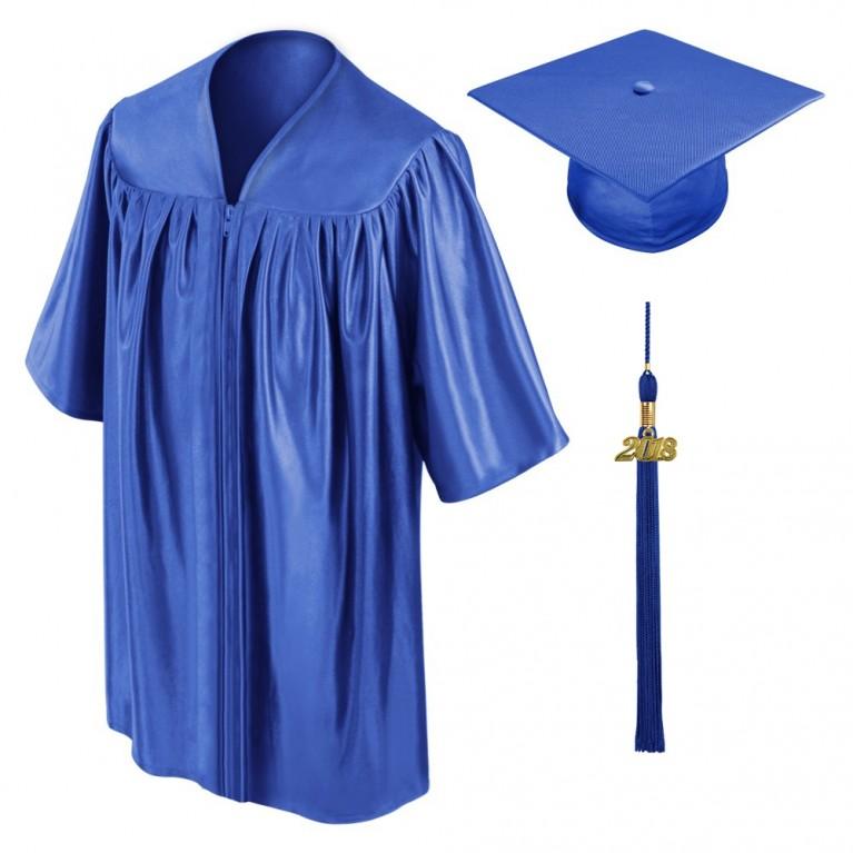 Royal Blue Child Cap, Gown & Tassel