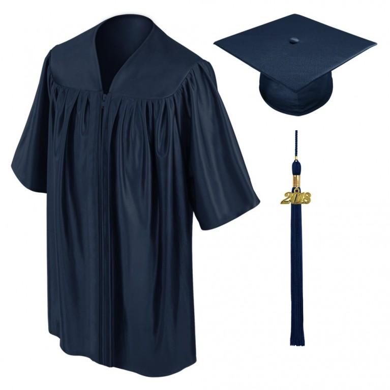 Navy Blue Child Cap, Gown & Tassel