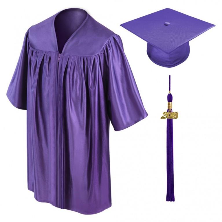 Purple Child Cap, Gown & Tassel