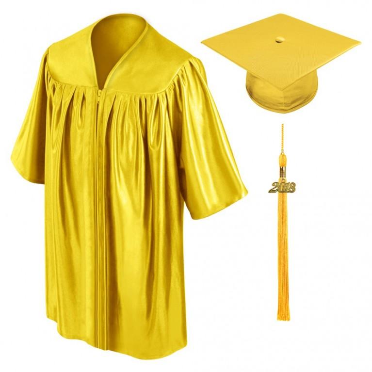 Gold Child Cap, Gown & Tassel