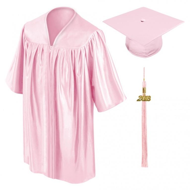 Pink Child Cap, Gown & Tassel