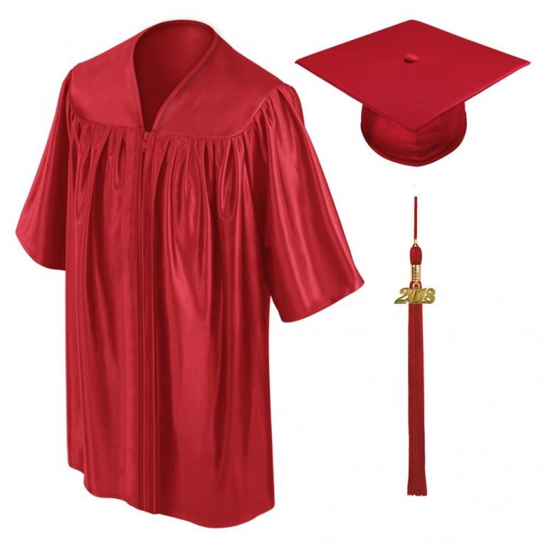 Red Child Cap, Gown & Tassel