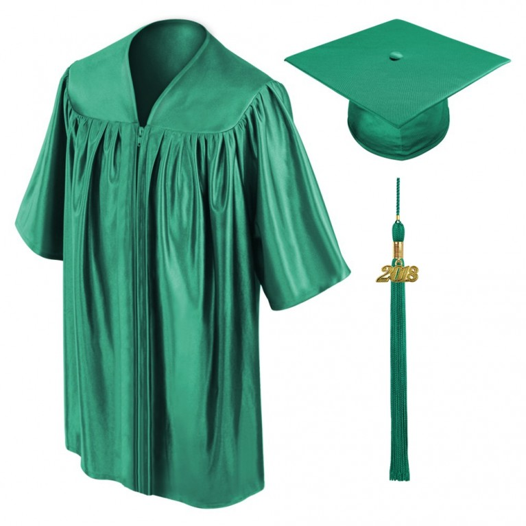 Emerald Green Child Cap, Gown & Tassel