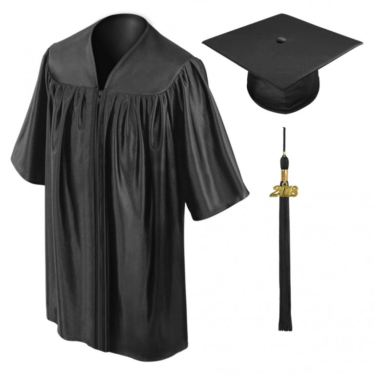 Black Child Cap, Gown & Tassel