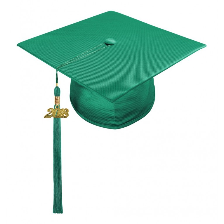 Emerald Green Child Cap & Tassel
