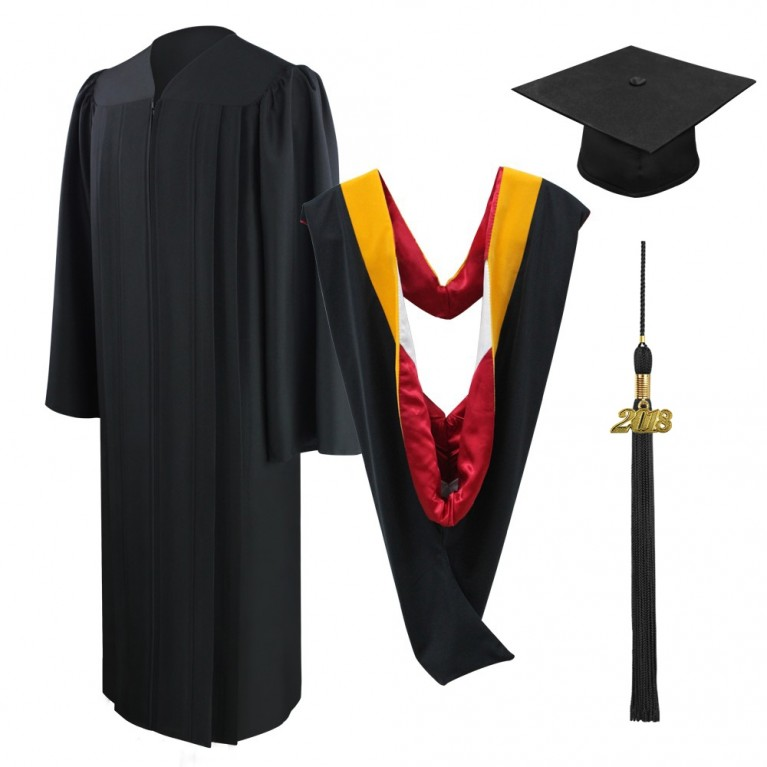Eco-Friendly Black Bachelors Cap, Gown, Tassel & Hood