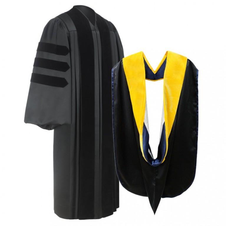 Deluxe Doctoral Gown & Hood